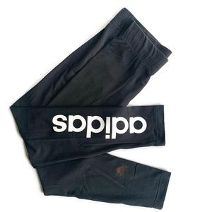 ADIDAS Word Logo Legging in Black